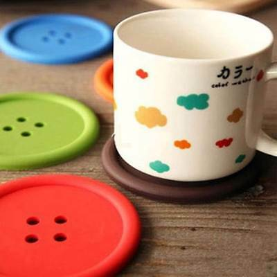 Silicone Giant Button Coasters Tea Cup Mug Drinks Table Placemat Place Mat Glass