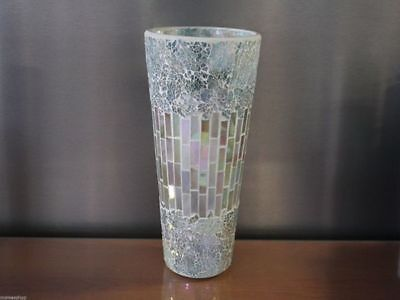 Hurricane flower vase Mosaic Glass  30cm x 15cm reduced to clear