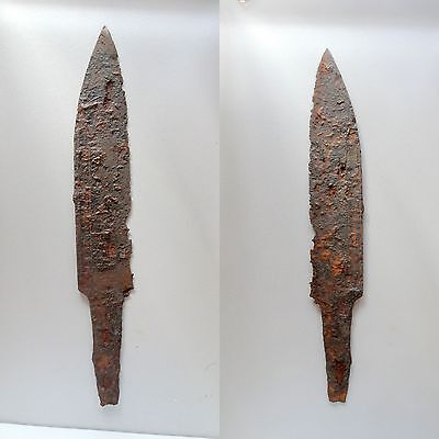 "Authentic Kurzsaxe Knife ""short Seax"" Forged Iron- Burgundy 6-7Th Cent-Sax Saxon"