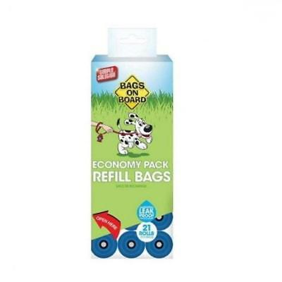 Bags on Board Economy Refill Pack Dog Waste Poo Poop Bag Refill Rolls 315 Bags