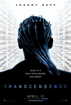 TRANSCENDENCE MOVIE POSTER 2 Sided ORIGINAL Advance 27x40 JOHNNY DEPP