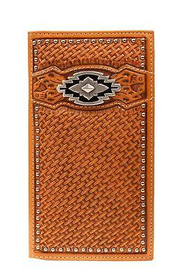 Ariat Western Mens Wallet Trifold Leather Weave A3522601
