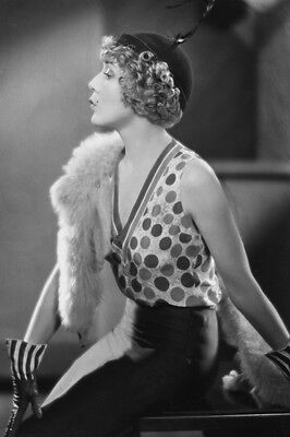 Mary Pickford Stunning 24X36 B&W Poster Print in profile