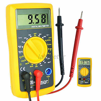 Portable LCD Digital Multimeter DC & AC Voltmeter Electronic Tester 1999 Counts