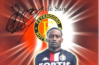 A 6 x 4 inch photo featuring Andwele Slory at Feyenoord personally signed by him