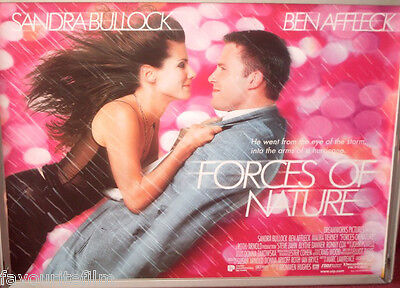 Cinema Poster: FORCES OF NATURE 1999 (Quad) Sandra Bullock Ben Affleck Ronny Cox