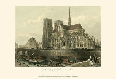 Cathedral of Notre-Dame, Paris Art Print by T. Allom