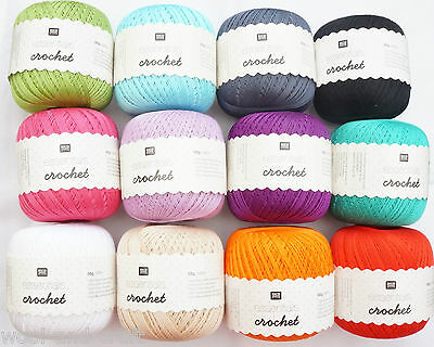 Rico Essentials Crochet Knitting Yarn 50G 100% Cotton Mercerized Pearl
