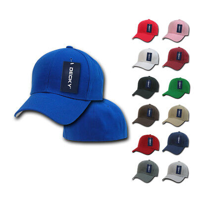 1 Dozen Decky Plain Fitted Curved Bill Baseball Hats Caps Wholesale Lot