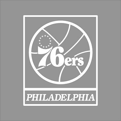 Philadelphia 76ers NBA Team Logo 1Color Vinyl Decal Sticker Car Window Wall