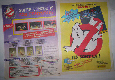 Lot Publicites Annees 80 Special Sos Fantomes - Ghostbusters