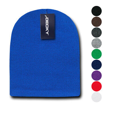 Decky Winter Warm Beanies Short Knitted Skull Ski Caps Hats Unisex