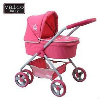 Brand New Valco Page Dolls Pram stroller Bassinet Pink strong Baby