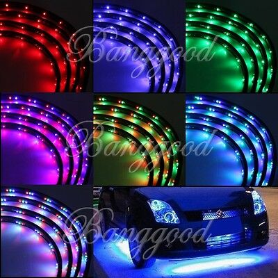 7 Color LED Strip Under Car Tube underglow Underbody System Neon Lights Kit US