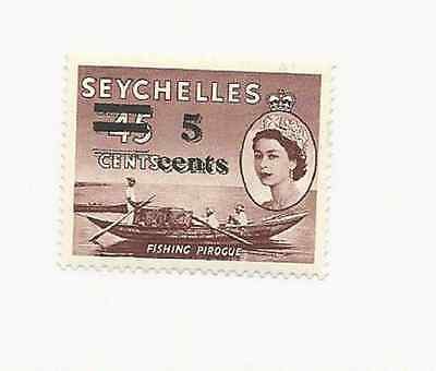 SEYCHELLES 1957 DOUBLE SURCHARGE SCOTT # 193a MINT NEVER HINGED FREE SHIPPING