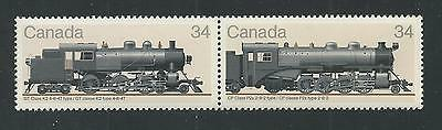 CANADA # 1072a (1071-1072) MNH LOCOMOTIVES, GRAND TRUNK K-2