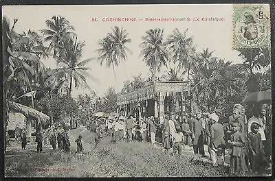 CPA INDOCHINE COCHINCHINE - Enterrement annamite (Le Catafalque) - Poujade