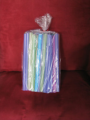 """100 Poly Gusset Clear OpenTop Plastic Storage, Gift, Candy, Bags 4""""x2""""x8"""" 1.5mil"""