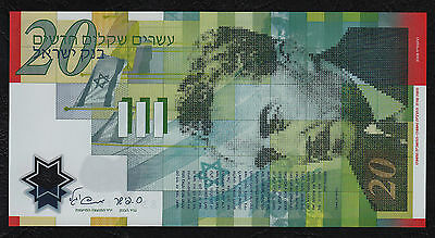 Israel 20 Sheqalim P 64 2008 Polymer UNC Low Shipping! Combine FREE!