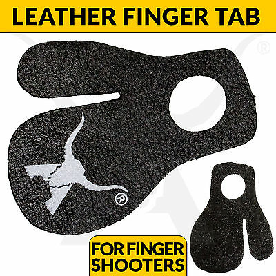New Leather Finger Tab For Finger Shooters Compound Bow Archery Hunting