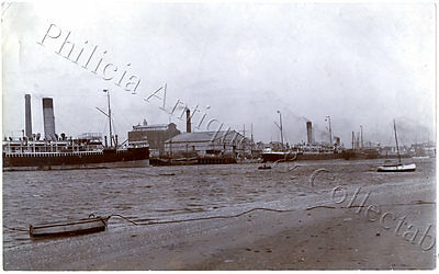 C.1910/20 LARGE ORIGINAL PHOTO OF SHIPPING AT PORT ADELAIDE J DUNNE & CO SA i97