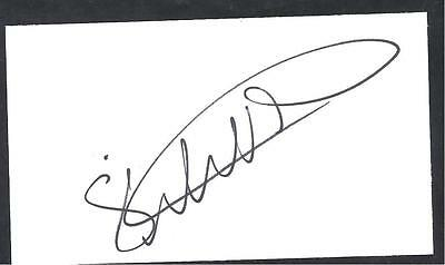 A 13cm x 7.5cm Plain White Card Signed by Steven Whittaker of Norwich City
