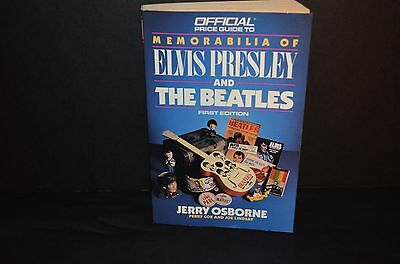 1988 Official Guide To Memorabilia Of Elvis Presley & The Beatles- 1St Edition