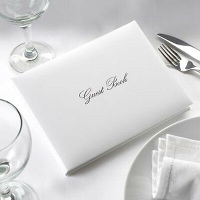 SILVER & WHITE Wedding Celebration GUEST BOOK Boxed