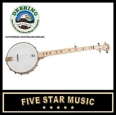 Deering Goodtime Open Back Banjo 5 String - New - Usa Made Ob Open Back