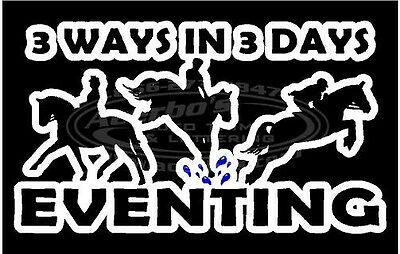 Equestrian Horse 3-Day Eventing 6 Inch Decal/Sticker Cross Country - Ride - Jump