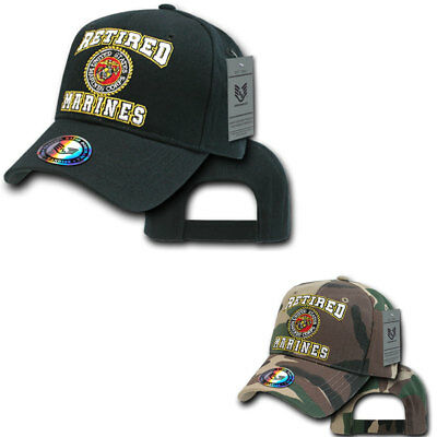 3516232c8e641 US Military Retired Marines Corps USMC Veteran Camofluage Baseball Hats Caps