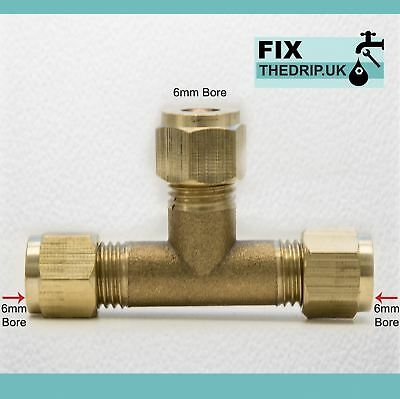TRADE PACK 5 x FixtheDrip 6mm BRASS Equal Compression fitting