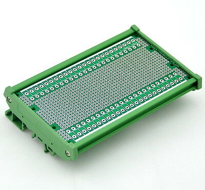 """DIN Rail Mounting Carrier Housing with Prototype Board, PCB Size 5.41"""" x 2.83"""""""