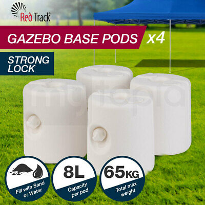 RED TRACK Gazebo Base Pod Kit Marquee Set Leg Fillable Water Sand Weight Pods
