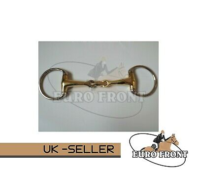 EggButt Copper Mix Lozenge Snaffle Bit