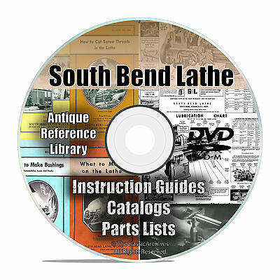 South Bend Lathe Reference Library, Parts List, Automechanic Shop Manuals CD V26