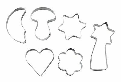 Cookie Pastry Cutter Pack Of 6 Cutters Heart Star Decorating Sugarcraft