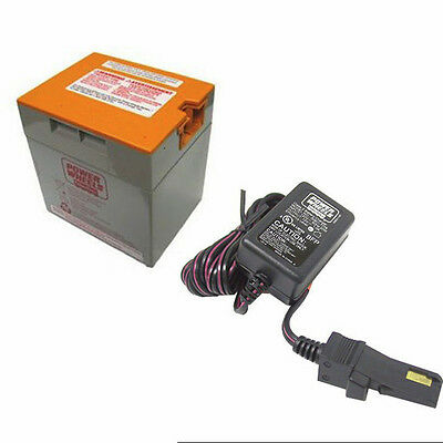 Power Wheels Gray-Orange Top 12 volt Battery & Charger (12V) 00801-1776 *NEW*