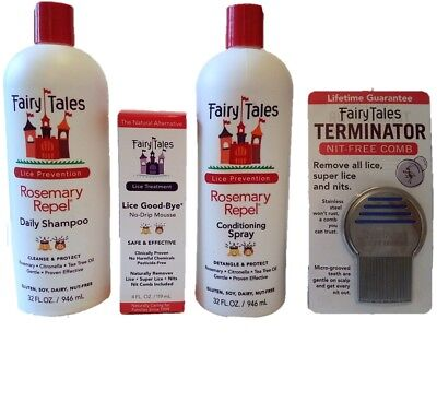 Fairy Tales Rosemary Repel Shamp/Leave-in Cond Spray 32 oz/Lice Goodbye/licecomb