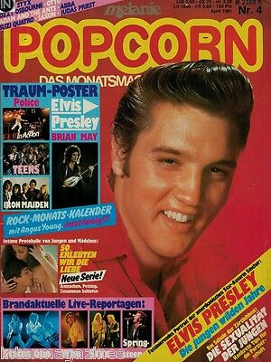 Magazin Popcorn 4/1981,Elvis,The Who,Status Quo,Saga,Styx,Abba,Ozzy,Angus Young,
