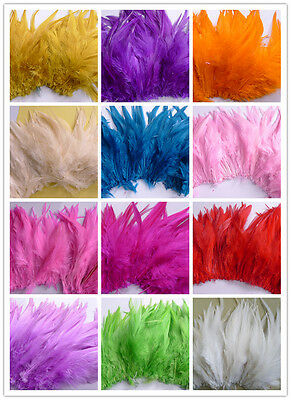 100Pcs Beautiful Rooster Feathers 15-20cm/6-8inch Fringe Decoration Home Craft