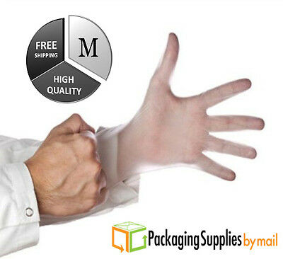 1000 / Case Vinyl Disposable Gloves Powdered (Latex Nitrile Free) Medium