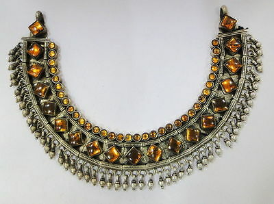 Vintage antique ethnic tribal old silver jewelry Necklace Pendant Rajasthan Ind
