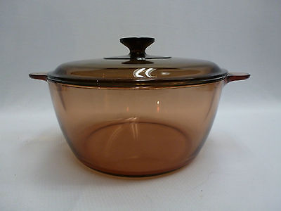 Corning Ware Corning Visions Amber Glass 4.5L Dutch Oven Casserole w/Lid France