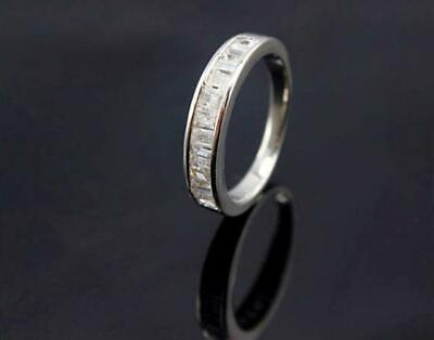 100% Real 925 Sterling Silver Eternity Wedding Dress Infinity CZ Ring Quality