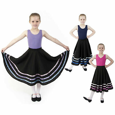 Ballet CHARACTER SKIRT RAD IDTA Style Regulation Dance LILAC, PINK, BLUE RIBBONS