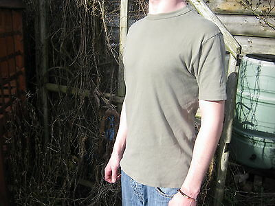 Austrian Army Cotton T Shirt Military Surplus Green Grey Short Sleeve