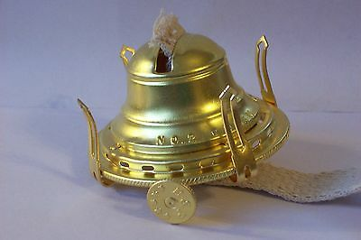 NEW #2 SOLID BRASS QUEEN ANNE OIL BURNER 10622JB