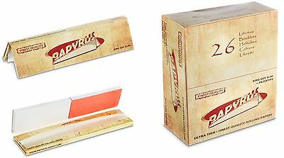PAPYRUS Slim Finest Quality Rolling Papers inkl. Filtertips, Box á 26 Heftchen