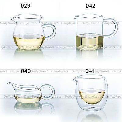 Kinds of Heat-Resisting Clear Glass Tea Serving Pitcher Chinese Gong fu Cha Hai